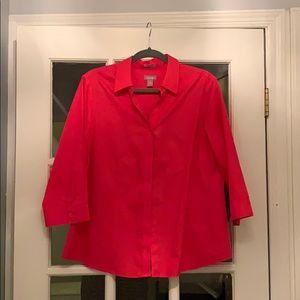 Dark coral Chico's blouse